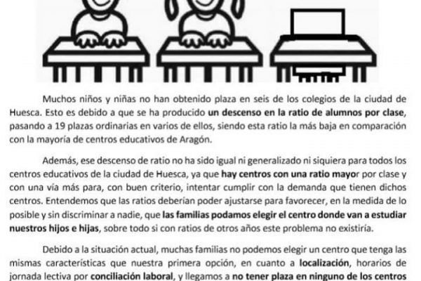 Huesca escolarización