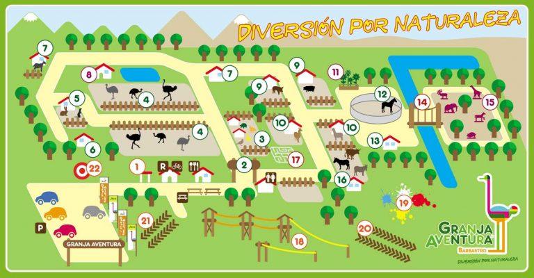 Mapa Granja Aventura