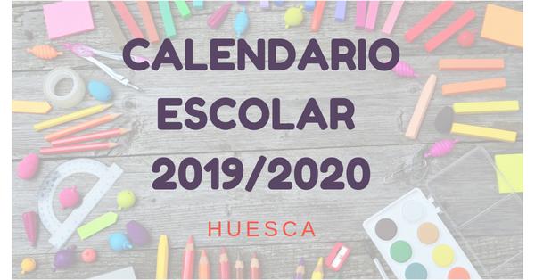 Ver calendario escolar 2019/2020 de Huesca